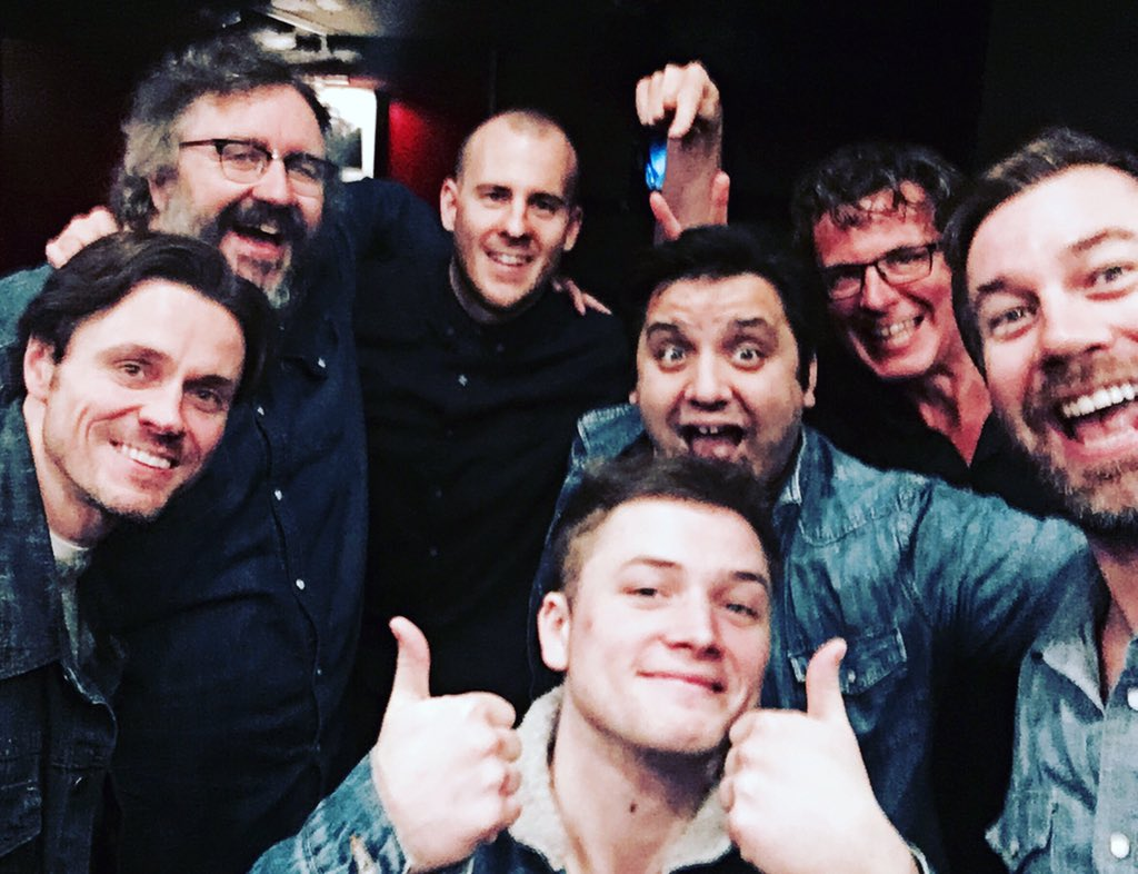Turns out #LoveTheatreDay is also #LoveDenimDay #TheLads @normanbowman69 @markbenton100 @dominicmshaw @TaronEgerton https://t.co/Ut1qy3TQS0