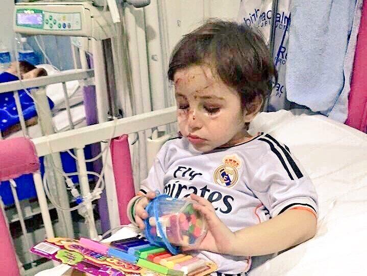 [#Liga] Ronaldo a décidé de rencontrer Haidar qui a perdu ses parents dans un attentat à Beyrouth ! #Respect