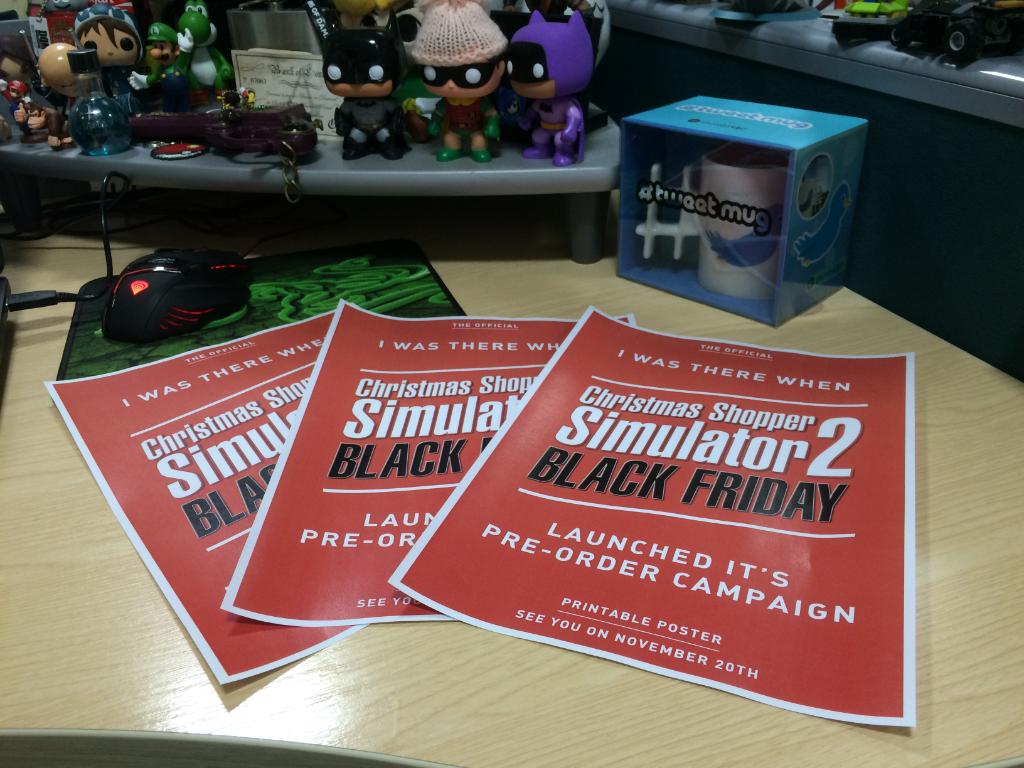 out friday get your official christmas shopper simulator 2 black friday poster httpbitlycss2bf gamecsspictwittercomgpg634q3lg
