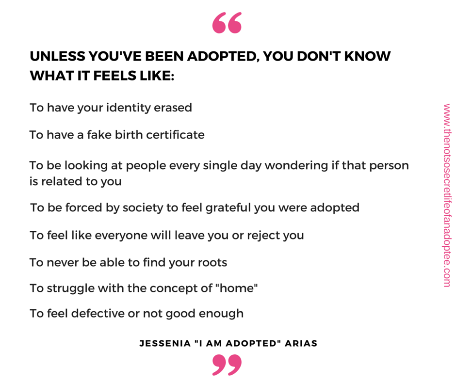 Please RT: Struggles adoptees are forced to deal with.  #flipthescript #NationalAdoptionMonth https://t.co/hUc9cUy9vl
