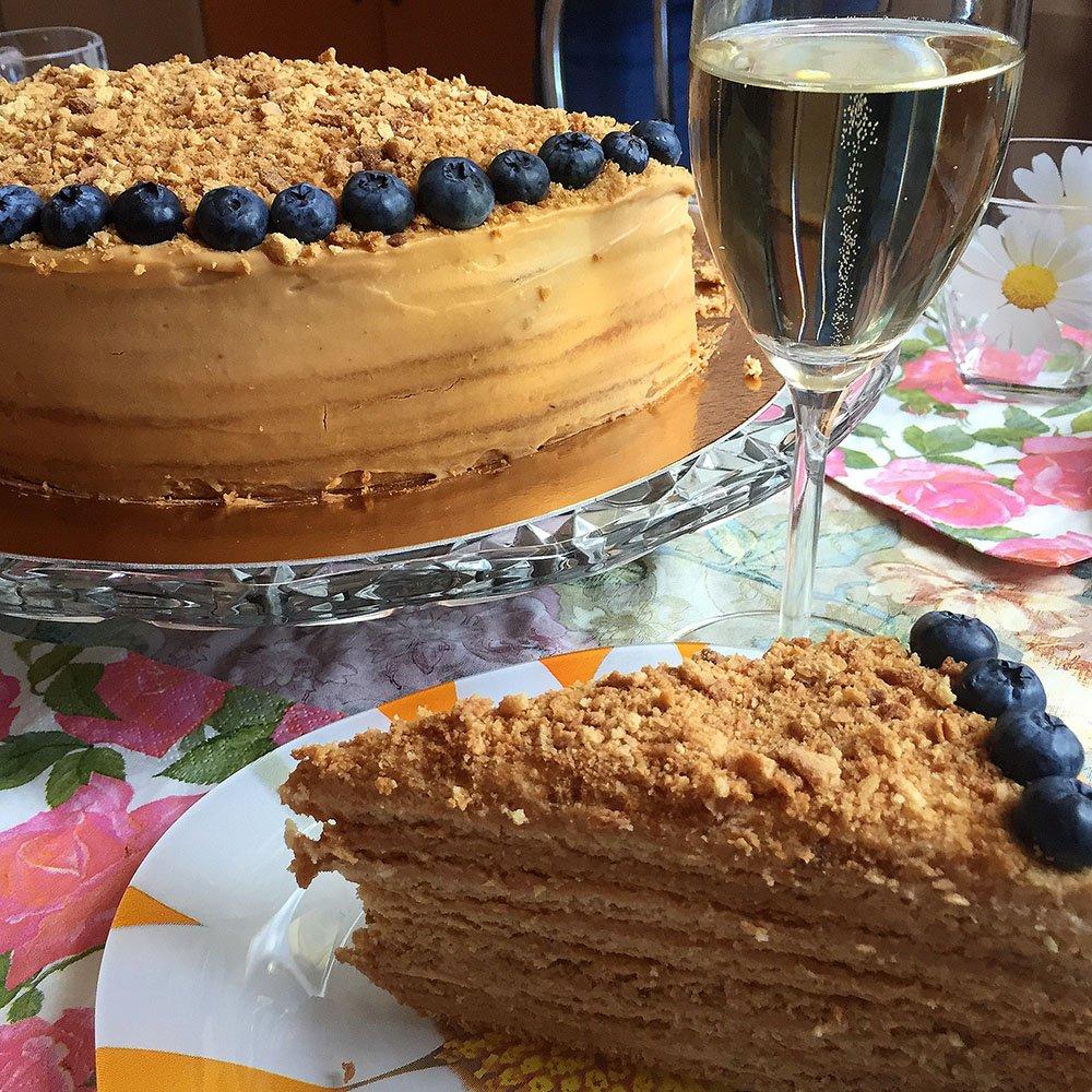 Рецепт медового торта домашнего с фото