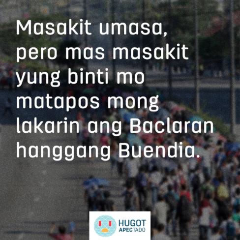 Read : Filipinos poke fun APEC traffic brews hugot lines