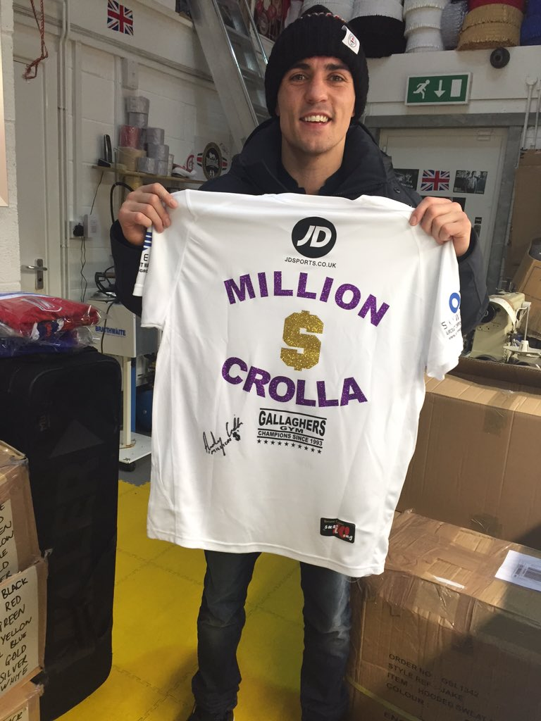 For a chance to win this signed @ant_crolla fight night t-shirt for pride of manchester RT and follow question soon https://t.co/27LI2XkUoS