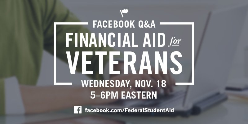 Thumbnail for November 2015 Facebook Q&A: Financial Aid for Veterans