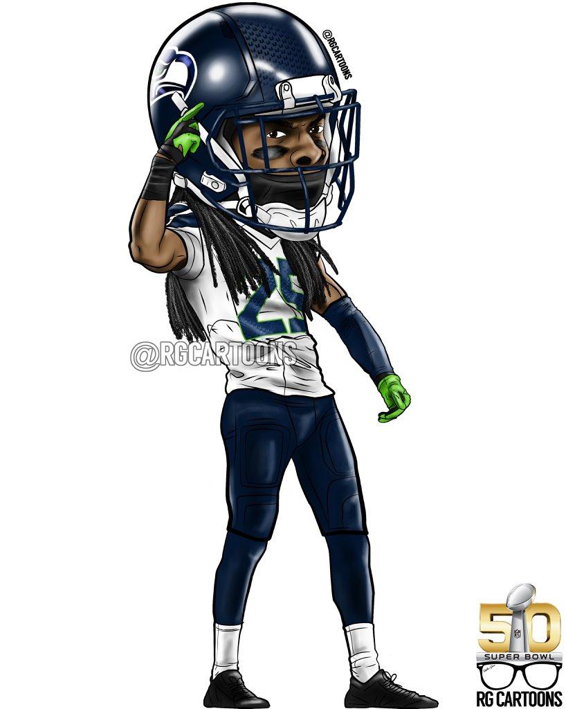 Rg Cartoons On Twitter Quot Richard Sherman Seattle Seahawks