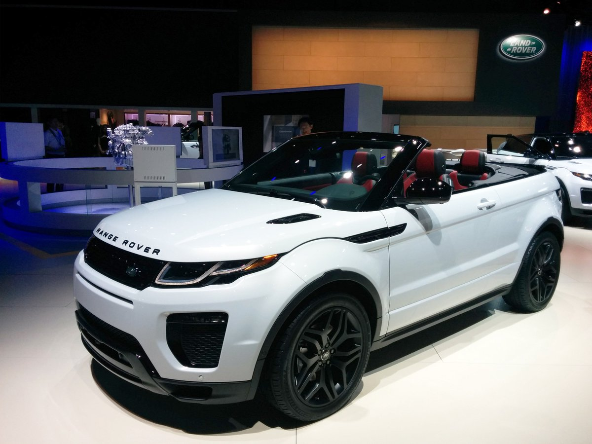 Beautifully bold. Distinctively refined. Witness the #RangeRoverEvoque #Convertible for yourself at the #LAAutoShow. https://t.co/P2ZzWd7xse