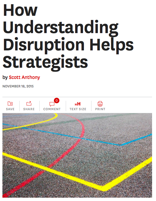 How Understanding Disruption Helps Strategists, my latest @HarvardBiz https://t.co/nJMTv2YtQ8 https://t.co/fzj1btWmXM