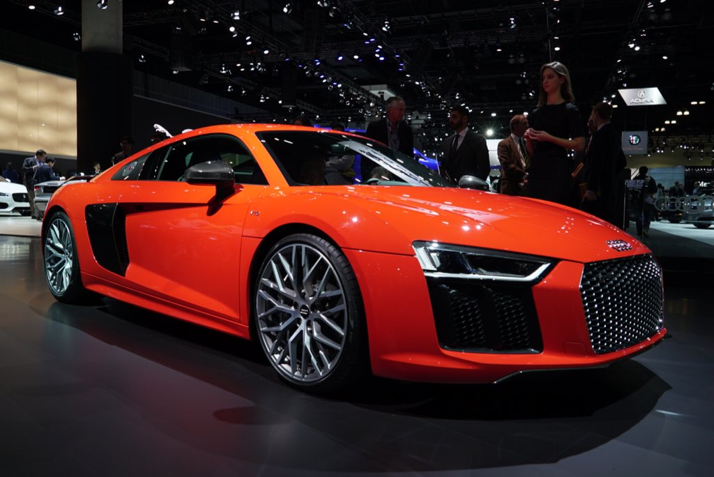 The all-new second-gen @Audi #R8 on display at the @LAAutoShow, in 'V10 plus' form (AKA Beast Mode). #LAAS2015 https://t.co/3iYWnJLNpR