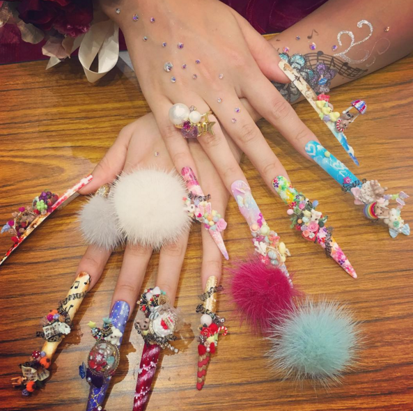 Mashable On Twitter 9 Insanely Over The Top Nail Art Designs From