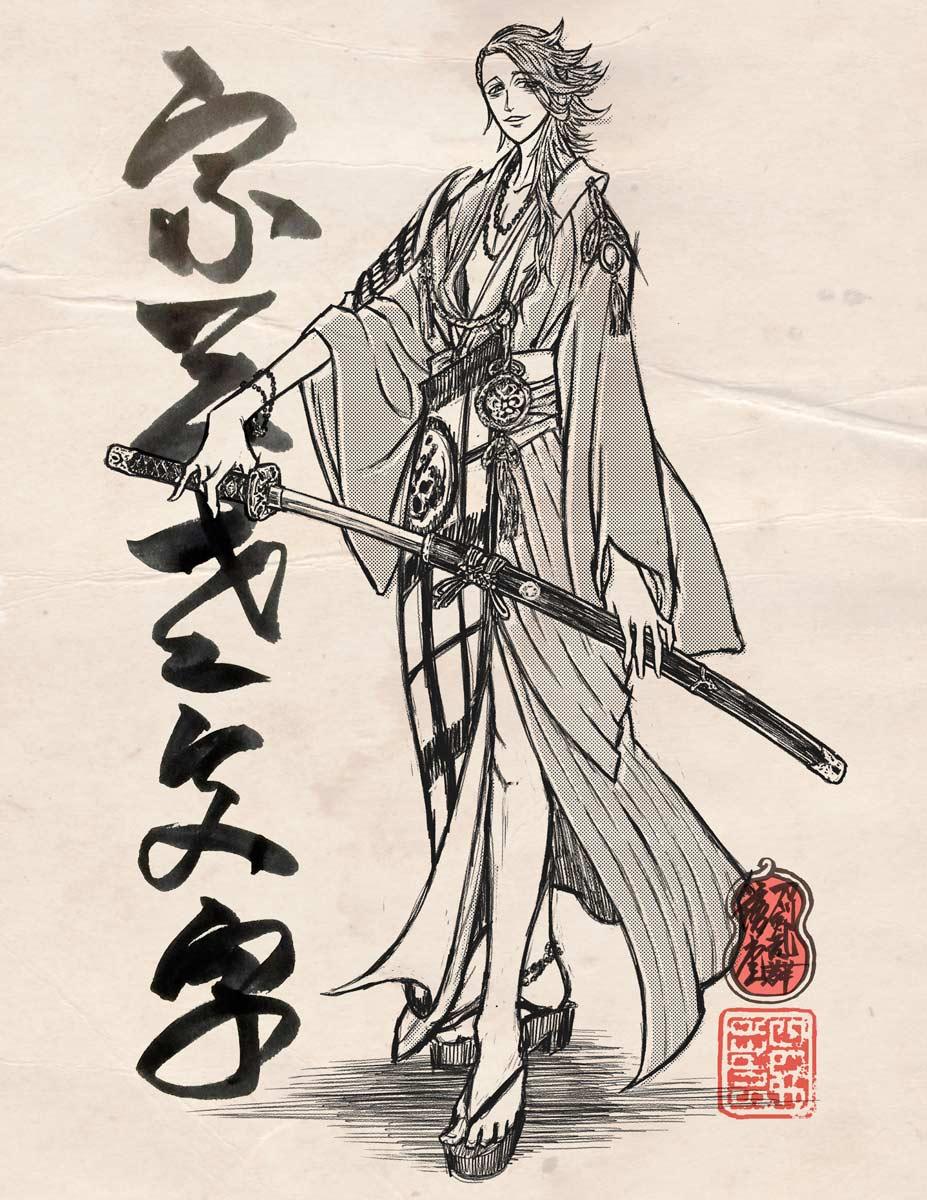 鈴木先生リクエストの宗三左文字。鈴木先生全部褒めてくれるから良いのか悪いのか全然わからん。あとふたり……! https://t.co/tMOX6TEQv1