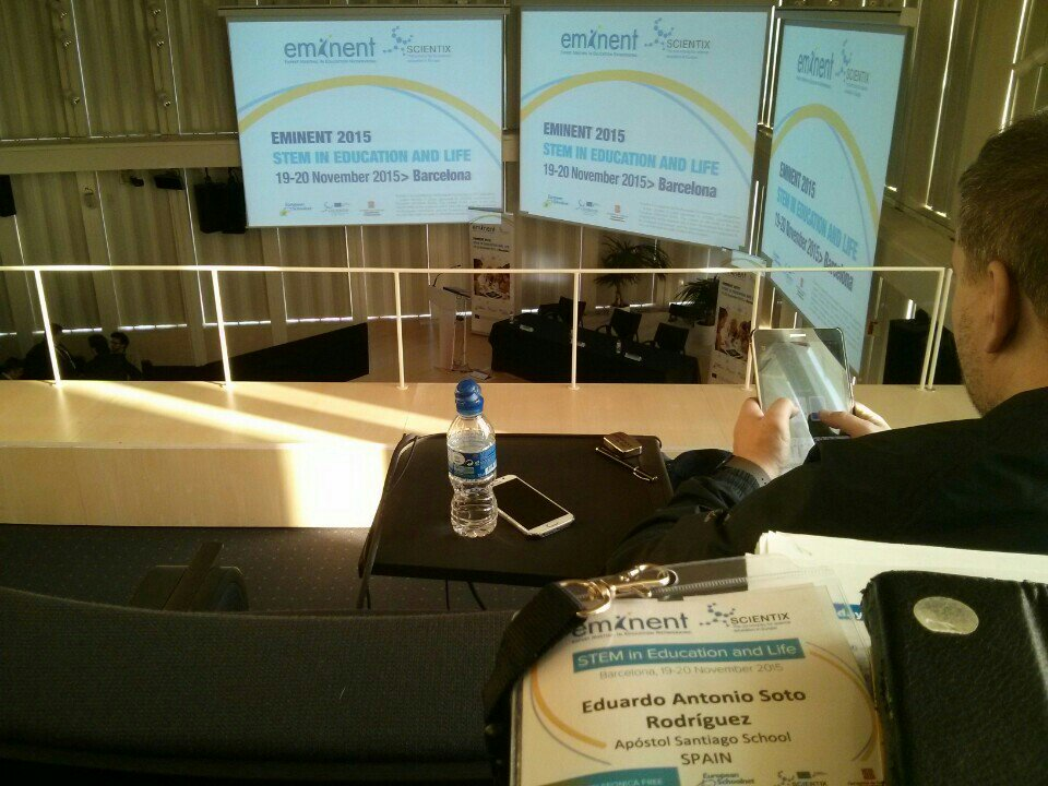En 30 minutos dará comienzo #eminent2015 en Barcelona. STEM in Education and Life... https://t.co/Ez871wAhNN https://t.co/qpyOWt6jkM