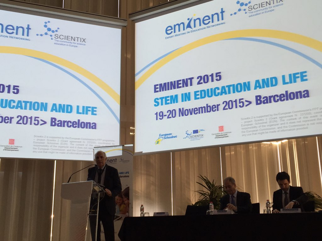 Giovanni Biondi #indire starting #eminent2015 with one minute of silence for Paris victims of terroristic attacks https://t.co/wY4P2dqRUv