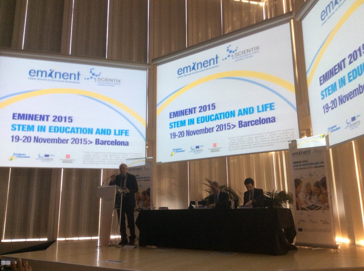 It's the start of the #eminent2015 conference in Barcelona: #STEM in Education and Life #ScientixWorks https://t.co/As15pz9zsw