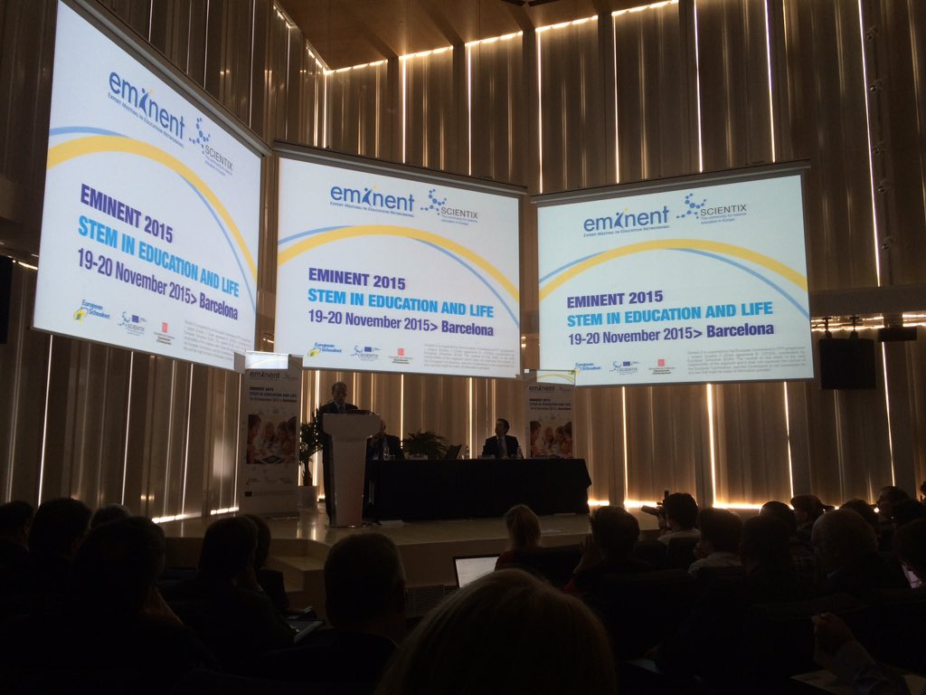 Very touching minute of silence for Paris victims from all #eminent2015 participants https://t.co/6k4gB7I98C