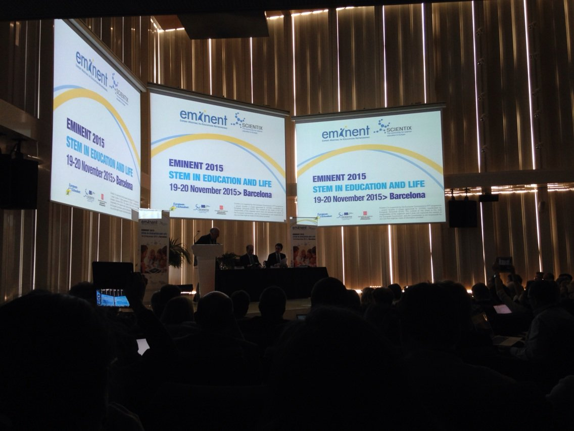 #EMINENT2015 in Barcelona has started & will review latest trends in EU education https://t.co/B2yeTdds3J