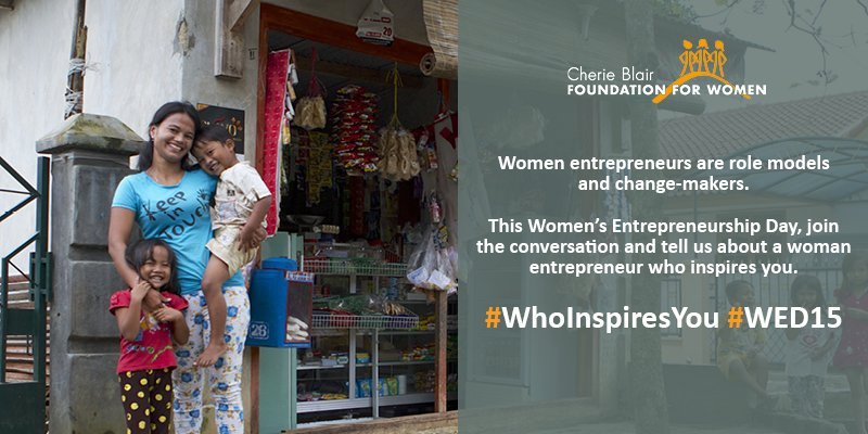 Happy Women's Entrepreneurship Day! #WhoInspiresYou? Share your stories of inspiring women entrepreneurs on #WED15 https://t.co/m7SUvCmuvG