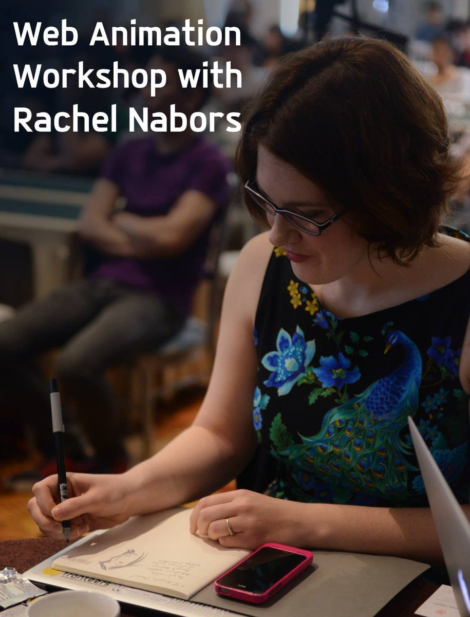 Join the #WebAnimation workshop with #FFC6 speaker @rachelnabors this Saturday! Register: https://t.co/xprvWknIgY https://t.co/mOmRmfjXSo