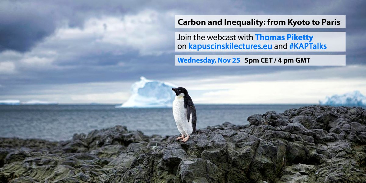 How do we move forward on fighting #climatechange? Thomas Piketty has ideas. Join us at next #KAPTalks on 25 Nov.! https://t.co/MgbB1ypAmt