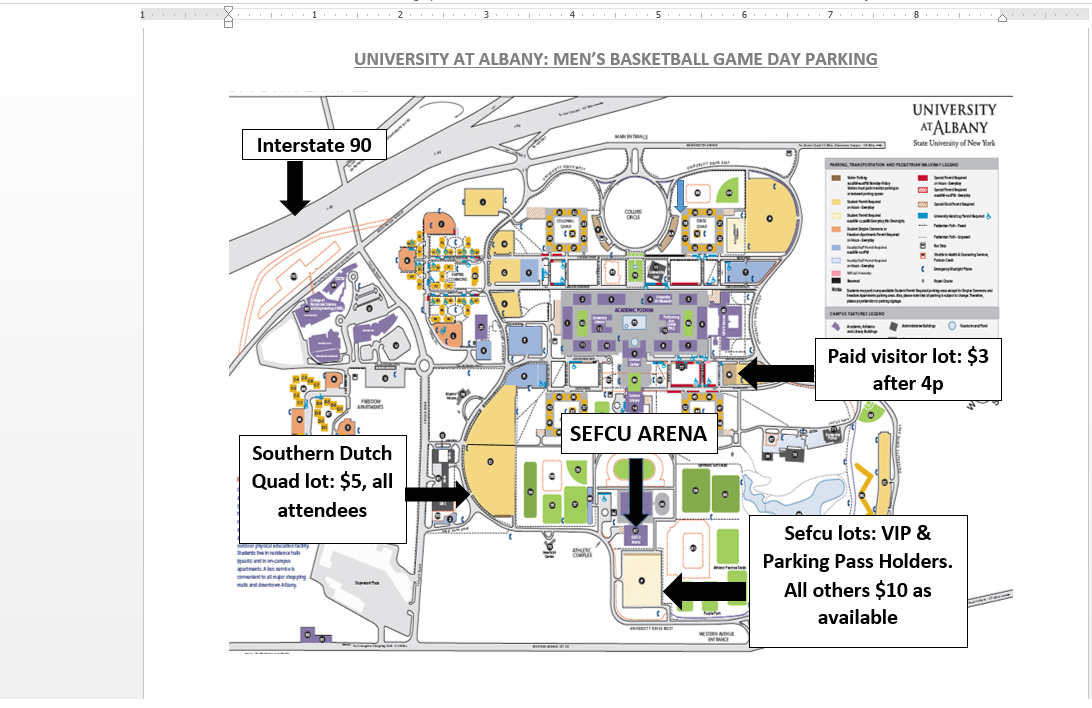 ualbany park trans on parking map for ualbany mbb home