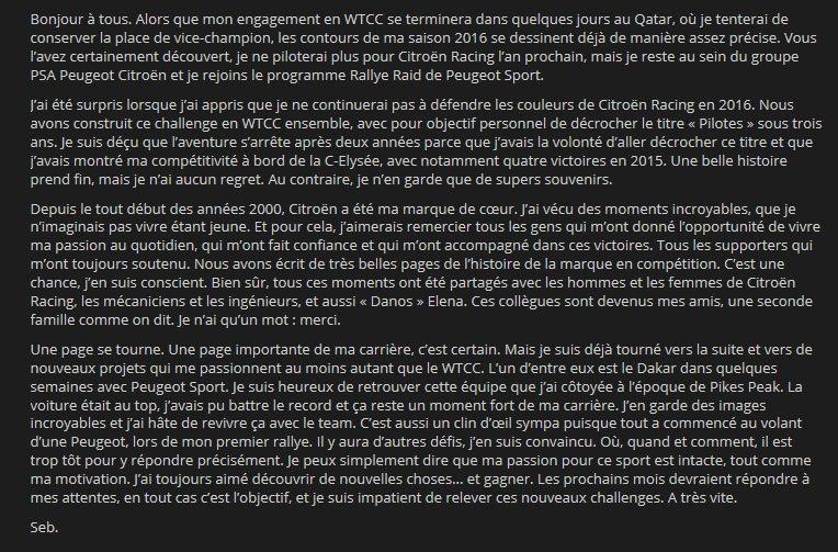 [AUTRE] Les aventures de Sébastien Loeb chez Peugeot - Page 2 CULNdJuUYAAu1vb