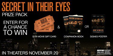 Julia Roberts fan? RT to win a $100 gc to see #SecretInTheirEyes #SecretMovieSweeps https://t.co/EmaFomSzZy AD https://t.co/5fWHuE4dUs