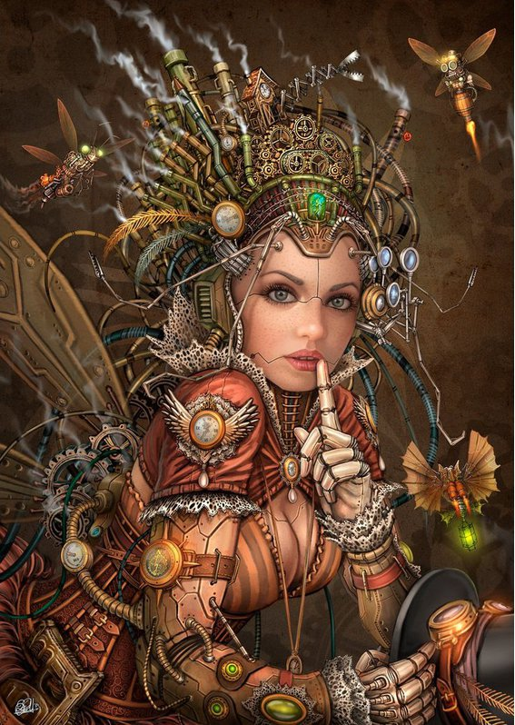 #Artwork Awesome of the Day: #Steampunk Fairy from #Bilbao #Basque Artist David Puertas  v/ @steampunkjnkies #SamaArt