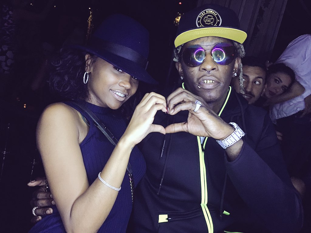 Young Thug with Fiancée Jerrika Karlae