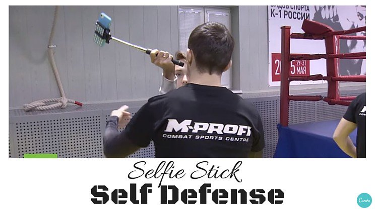 Gadgetzz There's A Selfie-Stick Self-Defense Class silly selfiestick selfie stick selfdefense self defense russia martial art funny class