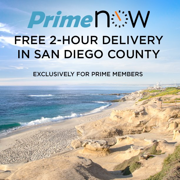 Fun, sun, and @sproutsfm in an hour--#PrimeNow expands to San Diego! Learn more at https://t.co/usHKCRb5ob https://t.co/1NHlbS2FbC