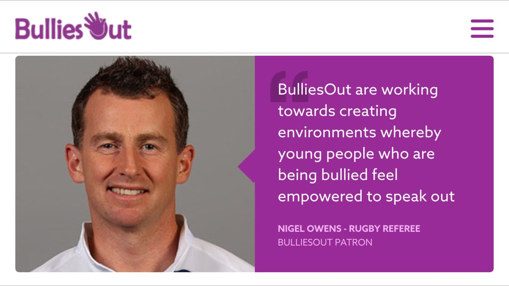 Our patron @Nigelrefowens #AntiBullyingWeek please share and RT to help us raise awareness https://t.co/guBIMk4h91 https://t.co/VKuYrMmLfC