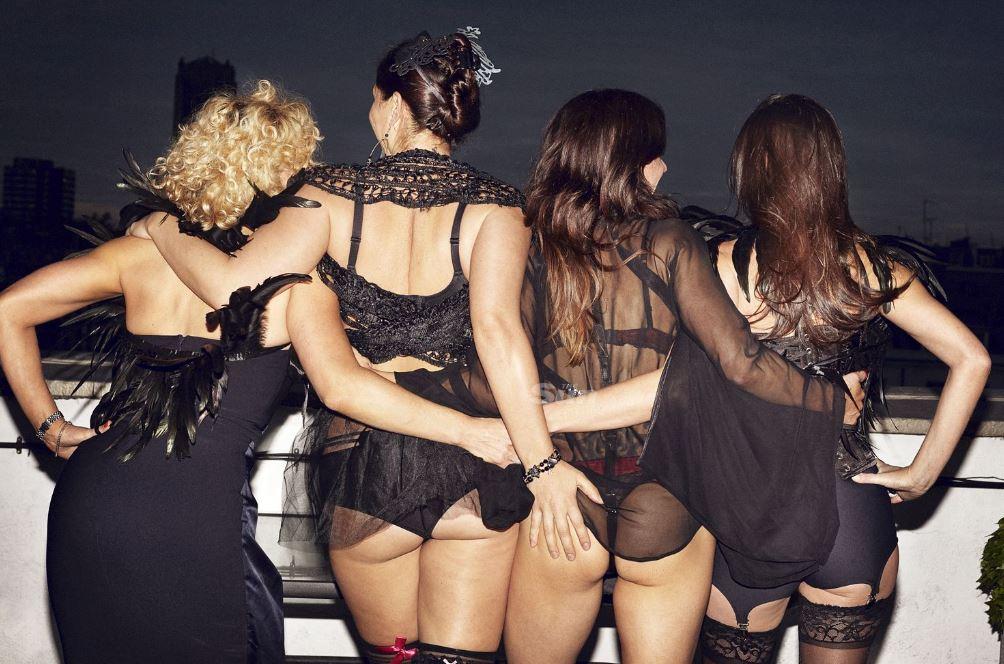 Lesbian club orgy