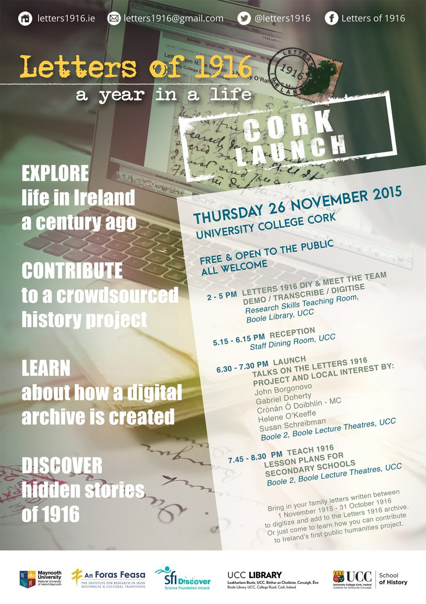 Thumbnail for Letters of 1916: Cork Launch | SFI Outreach Event | UCC | 26.11.2015