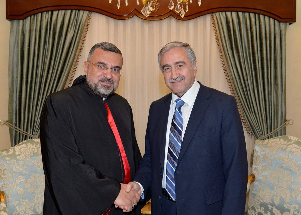 President Akıncı received the Maronite Archbishop of Cyprus Yousef Shouef today. https://t.co/GMpwi8EJUA