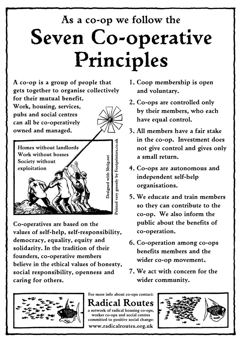 Coop principles t-towel