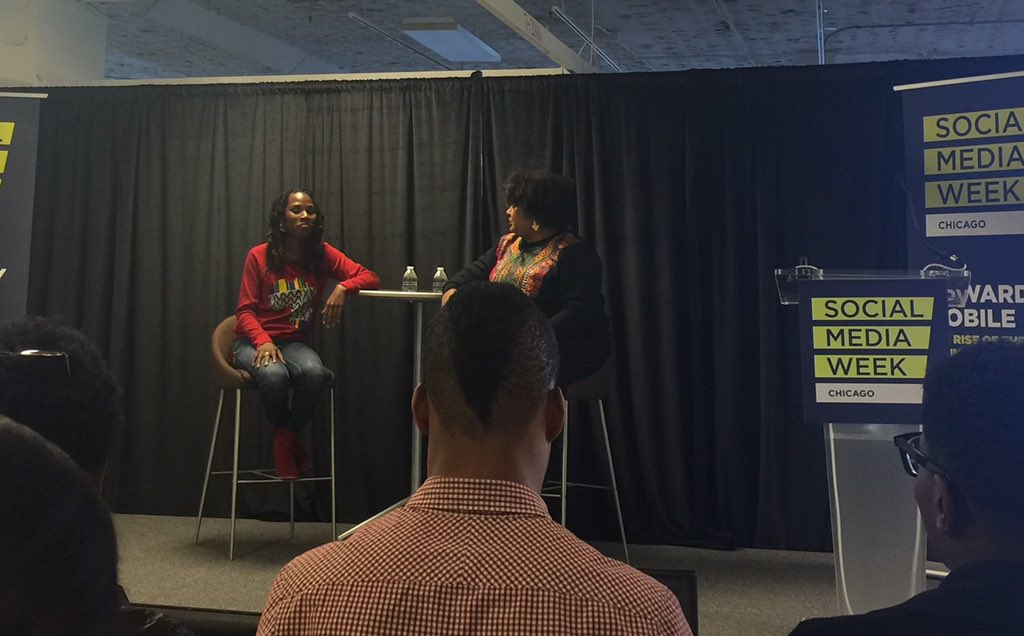 And we're started! Already enjoying how relatable our speakers are. #SMWrealtalk #SMWChicago https://t.co/r1a2vWZhAK