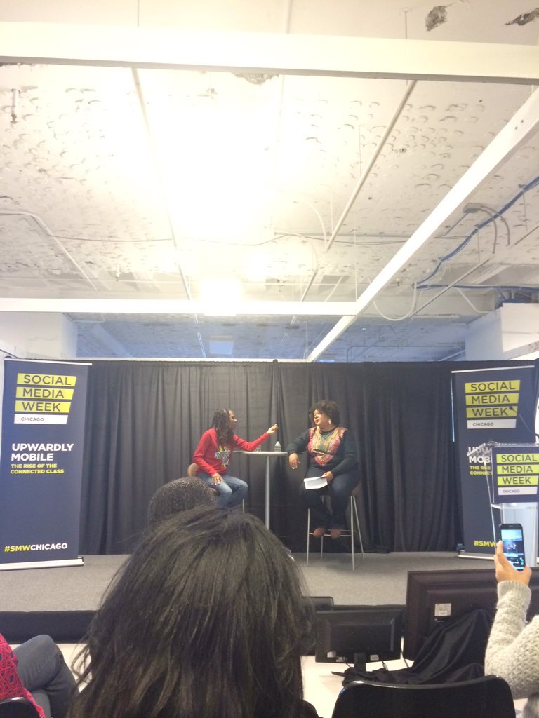 Excited to catch @Luvvie + @afrobella at @SMWchicago for Real Talk: Multicultural Social Influencers #smwrealtalk https://t.co/g3Sq6I1aUx