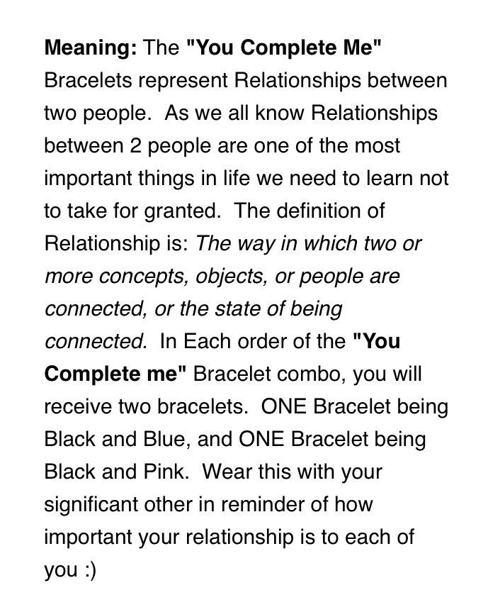 """You Complete Me"" Bracelets"