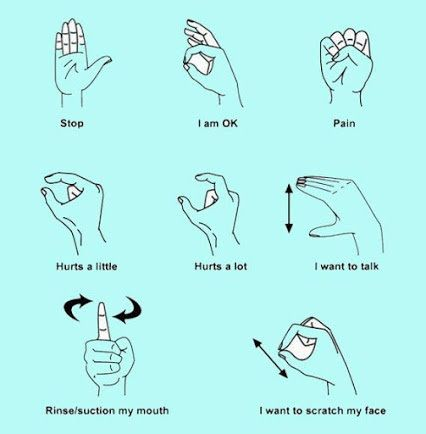 "Howard Farran DDS on Twitter: ""Basic #Dental Sign Language ..."