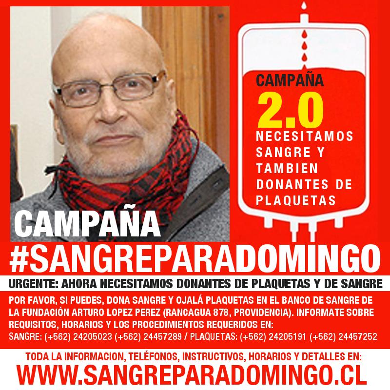 Mi padre Domingo Asun necesita URGENTE donantes de Sangre. Por favor si puedes donar info en https://t.co/QTAqCGSLiN https://t.co/MO7zgvKgSG