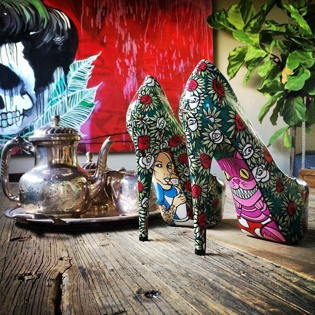 Be careful not to trip down the rabbit hole in these Wonderland Heels! Pick them up here: https://t.co/CAbagpzSur https://t.co/TBCnx1msld