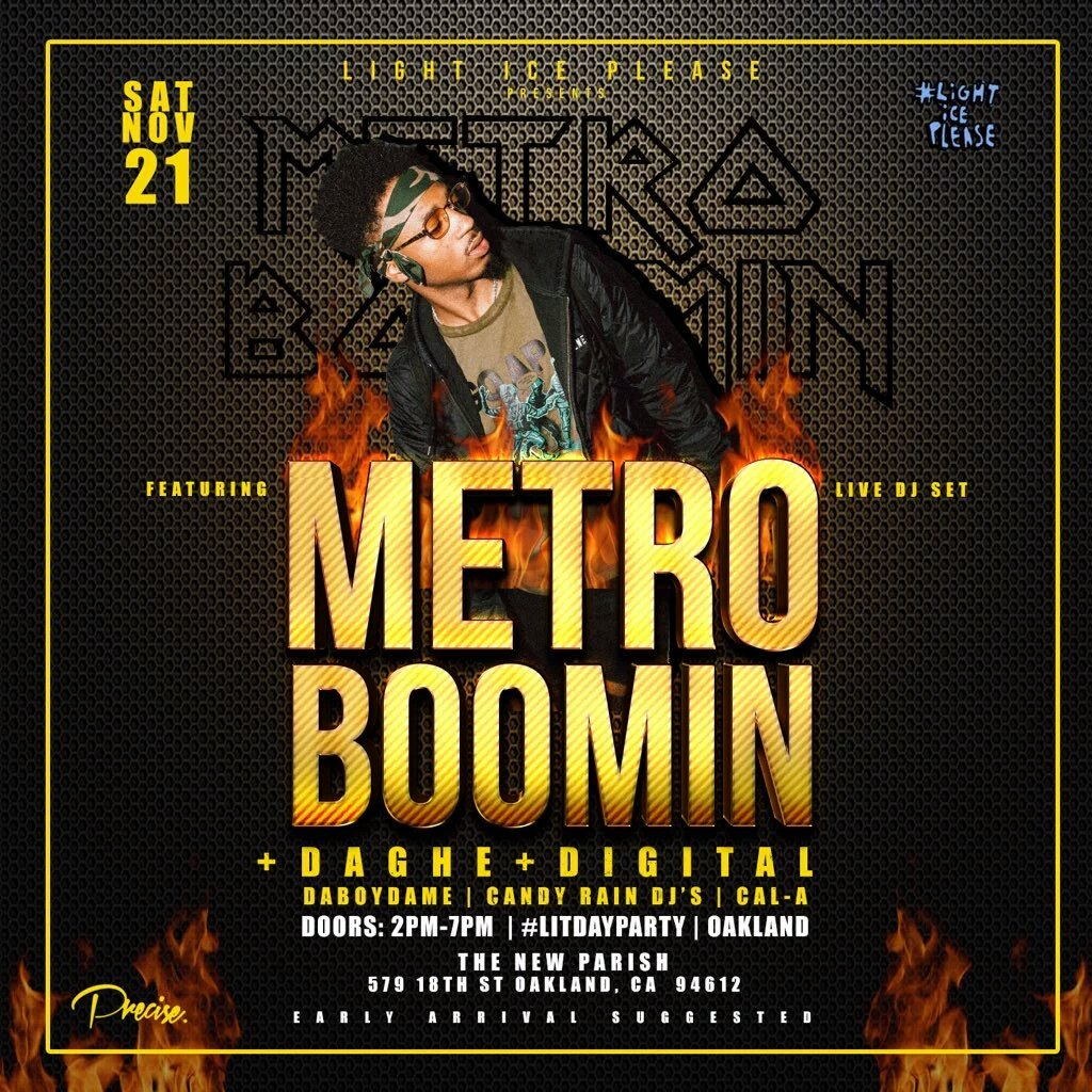 Saturday will be a historical day in Oakland, CA. Hit me for tables. #MetroGonMakeItBoom https://t.co/EFj4ZvtREs