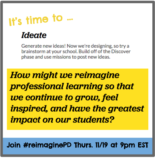 Thumbnail for Discussing How to #reimaginePD - 11/19/15