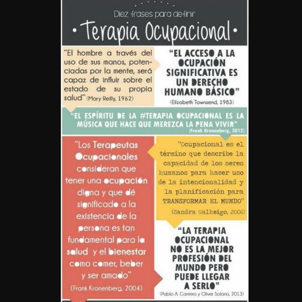 Terapia Ocupacional On Twitter Diez Frases Para Definir La
