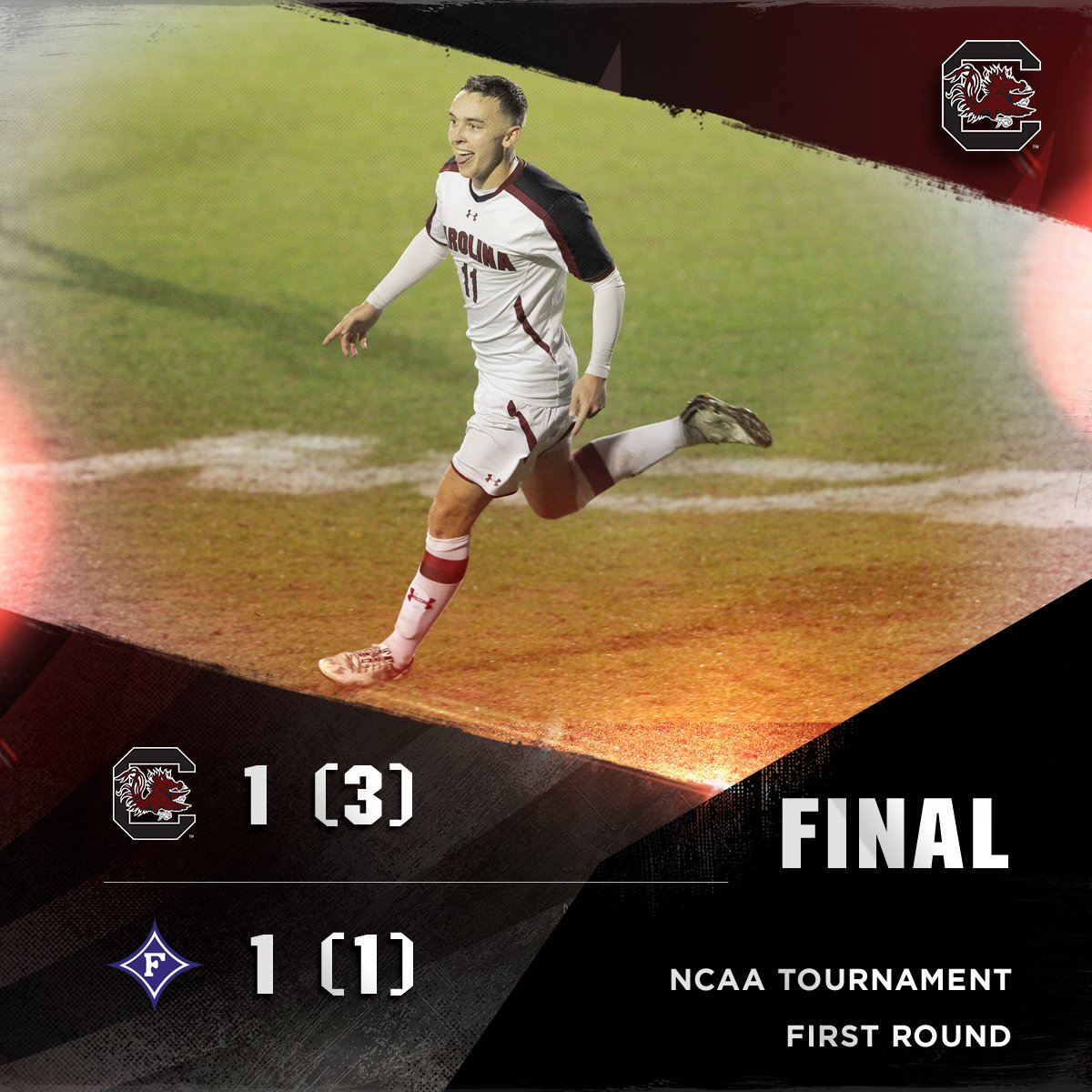#GAMECOCKS ADVANCE!! South Carolina takes PKs 3-1 to cap a thriller against Furman. https://t.co/BcuRSylS8y
