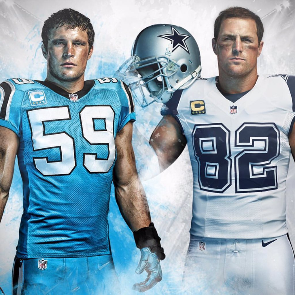 quality design 06ef9 8a579 The Cowboys and Panthers' Color Rush uniforms will ruin ...
