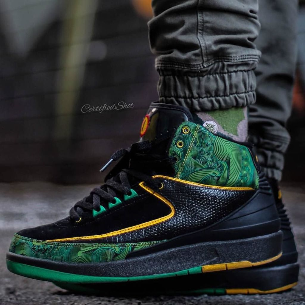 bb53a6b6f40f ... certifiedshot gets up close with the Air Jordan 2 Doernbecher. Is this  colorway underrated in  Air Jordan 2  Air Jordan 2 Doernbecher Peacock  318304-071 ...