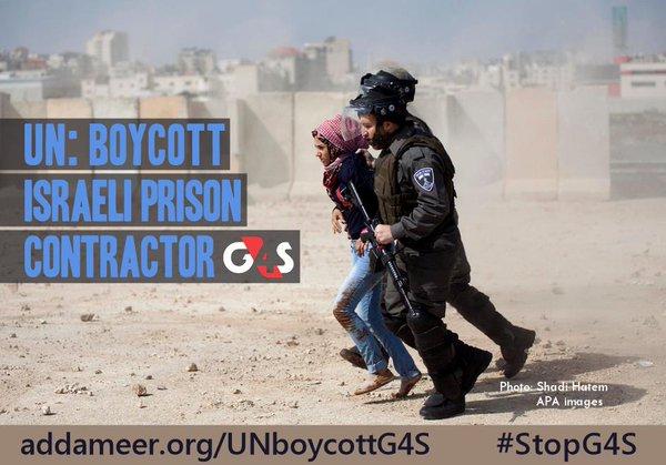 23-30 Kasım, BM'nin G4S Şirketini Boykot Etmesi İçin Küresel Eylem Haftası