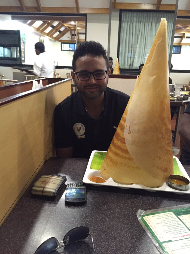 Even the dosa is taller thn me...