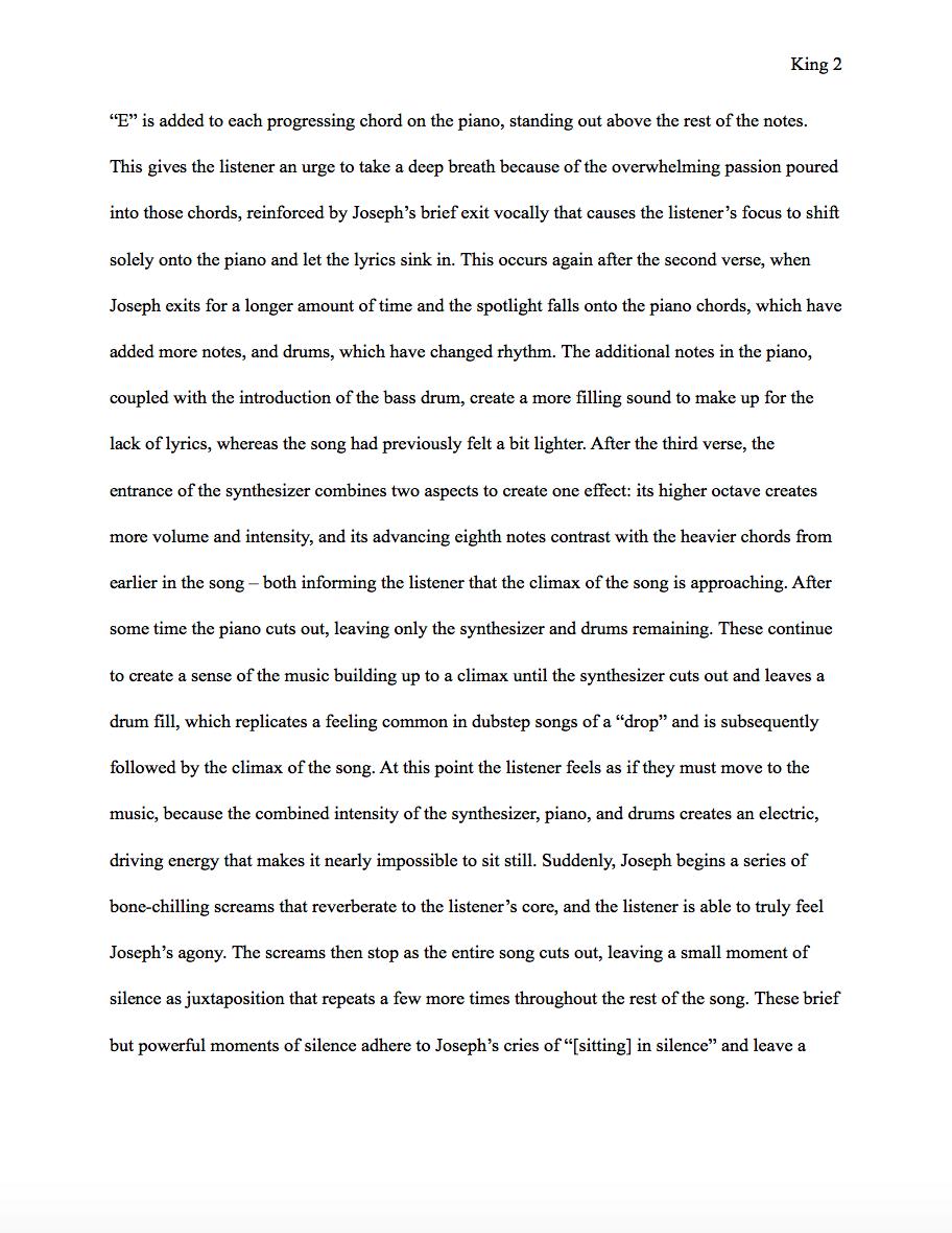 An essay on cars