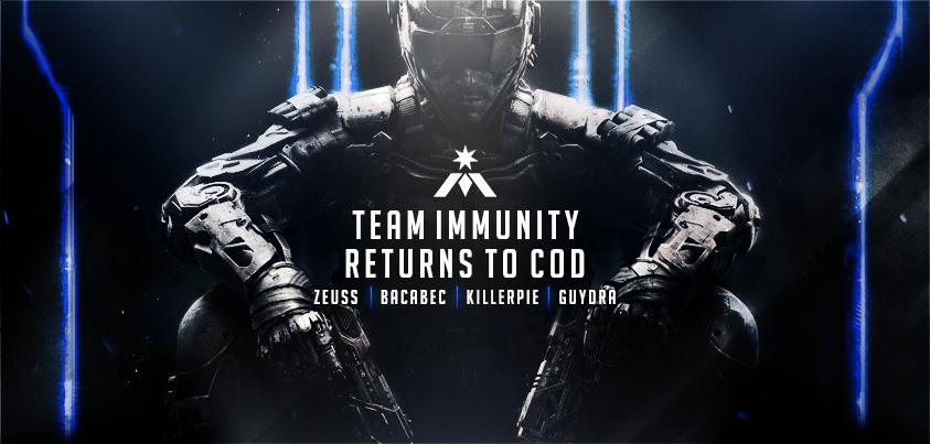 Please join us in welcoming our new Call of Duty team - @iM_Zeuss @iM_Guydra @iM_Killerpie @iM_Bacabec! https://t.co/nroNa8ztyG